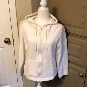 White Prospirit zip up sweatshirt